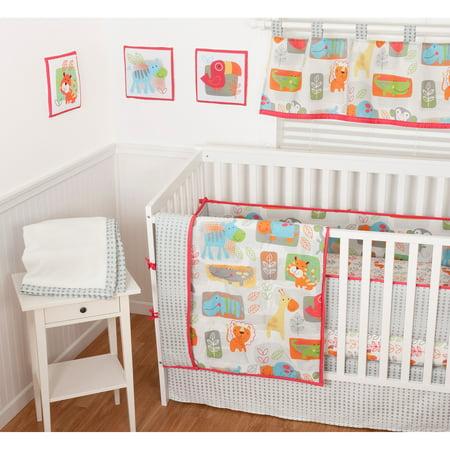 Sumersault Jungle Woohoo 9-Piece Nursery in a Bag Crib Bedding Set with BONUS Bumper by
