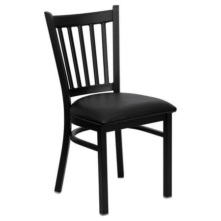 Restaurant Seating Commercial Metal (Flash Furniture HERCULES Series Black Vertical Back Metal Restaurant Chair - Vinyl Seat Multiple Colors( Base UPC:0084725401000) )