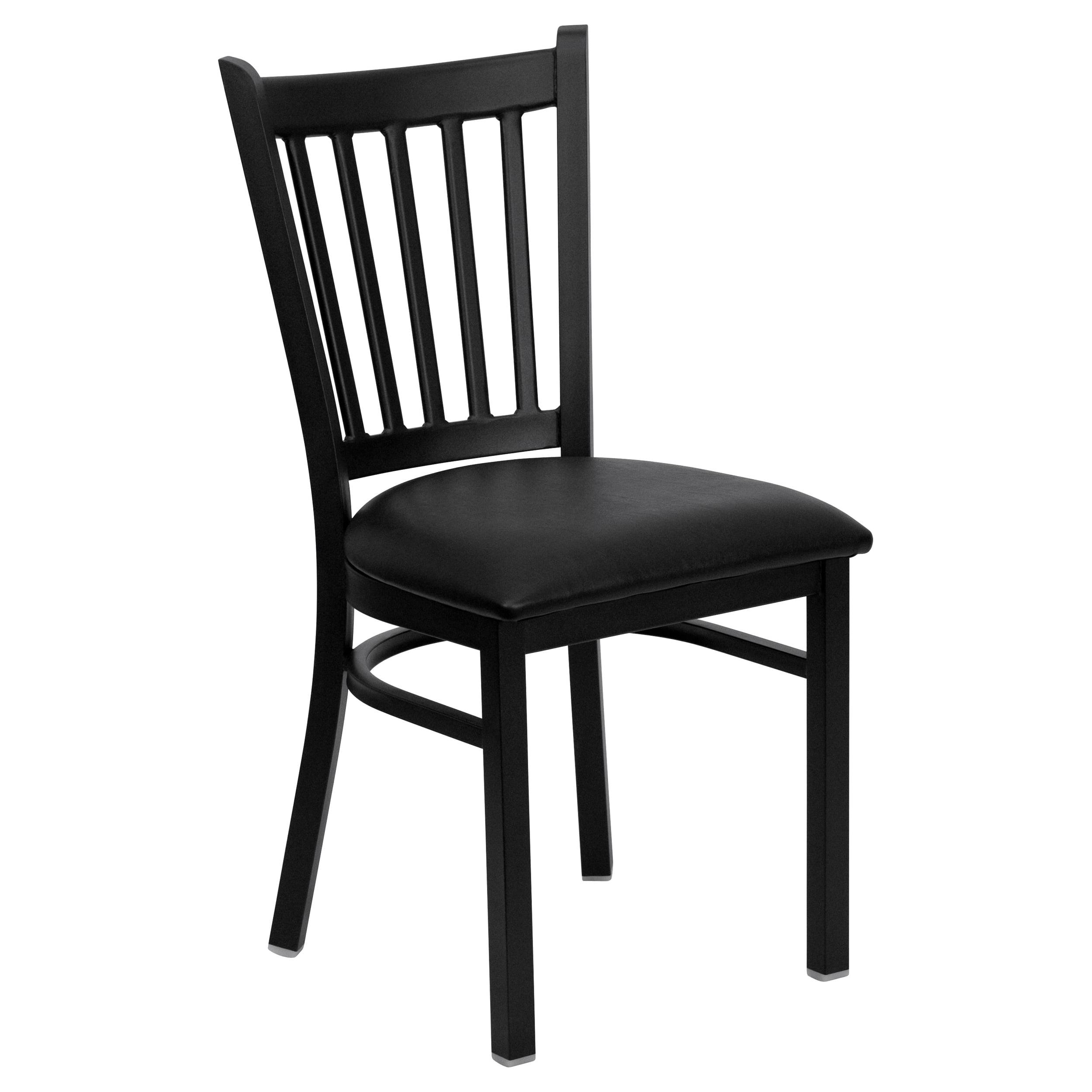 Flash Furniture HERCULES Series Black Vertical Back Metal Restaurant Chair - Vinyl Seat Multiple Colors( Base UPC:0084725401000)
