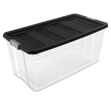 Sterilite 50 Gallon Black Stacker Box, 2 Piece