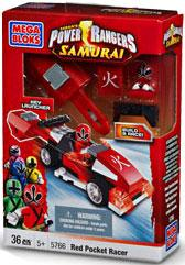 Power Rangers Samurai Red Pocket Racer Set Mega Bloks 5766 by