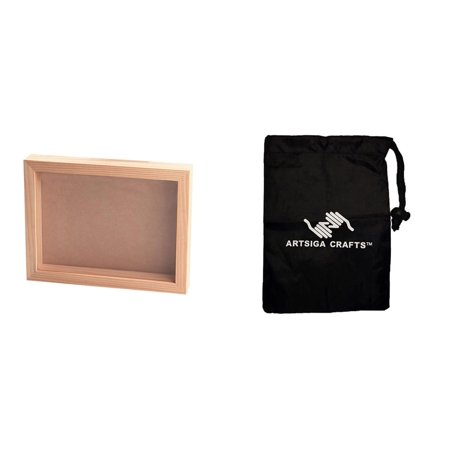 Darice Wood Unfinished Picture Frame Collection Shadow Box w ...