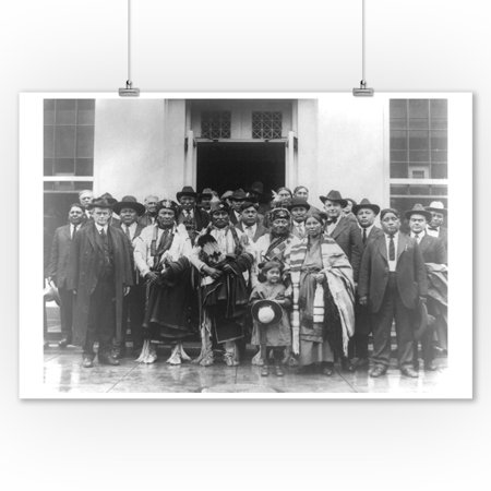 Group of Osage Indians outside White House Photograph (9x12 Art Print, Wall Decor Travel