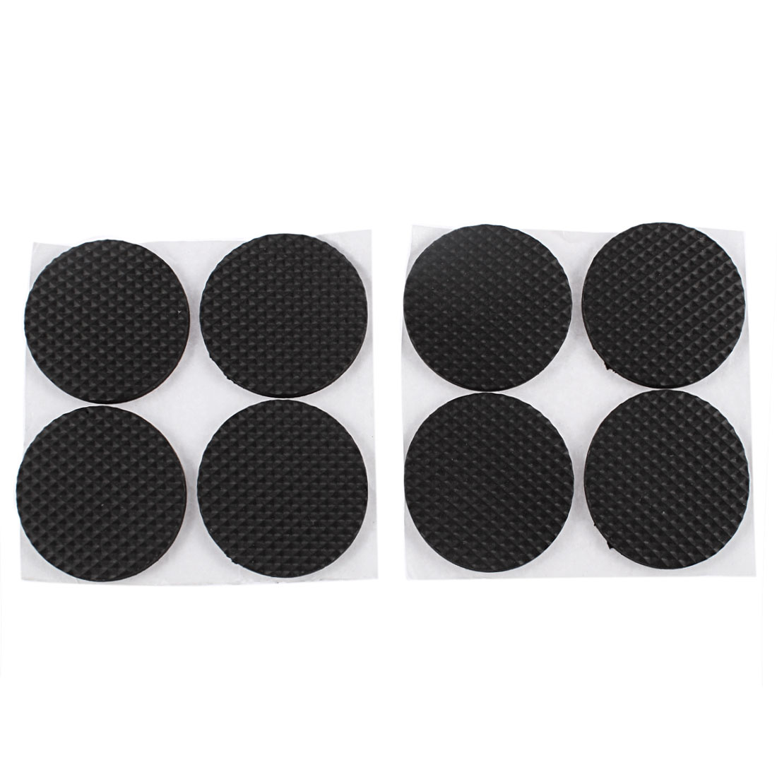 Table Chair Furniture Round Shaped Foot Protector Covers Cushion Pads Black 8pcs