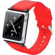 iWatchz Q Collection - Wrist pack for player - silicone, polycarbonate - red - for Apple iPod nano (6G)