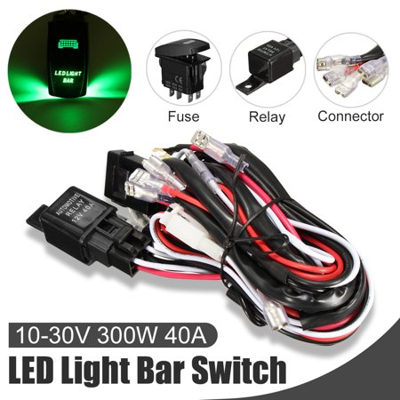 Car Laser Rocker Switch Wiring Harness LED Light Bar 5 Pin Relay Fuse on