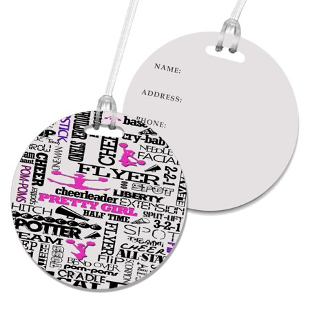 KuzmarK Luggage Travel Round Bag Tag -  Cheerleader Cheers](Cheerleader Bags)