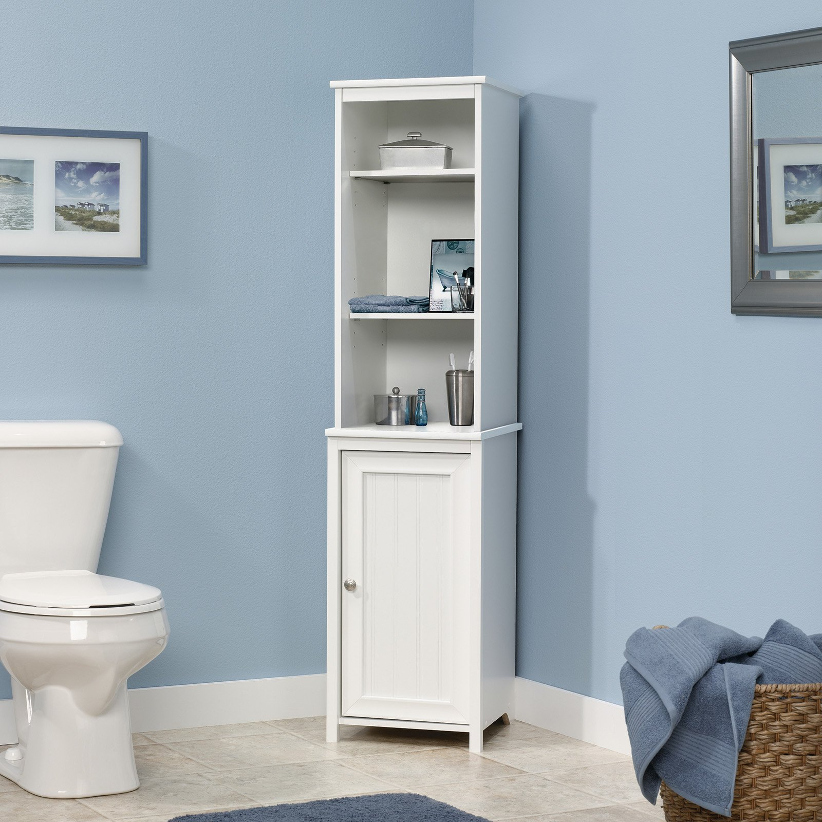 Mainstays Bathroom Tower with Hamper, Oil Rubbed Bronze - Walmart.com