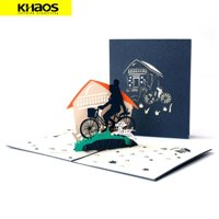 Greeting Card 3D Pop Up Card Christmas Birthday Wedding Father Day - Dad and I