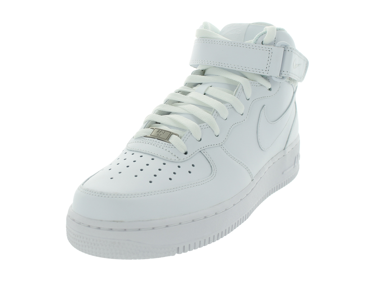 Nike 315123-111: Mens Air Force 1 Mid White White Basketball Sneaker (9.5 D(M) US) by Nike