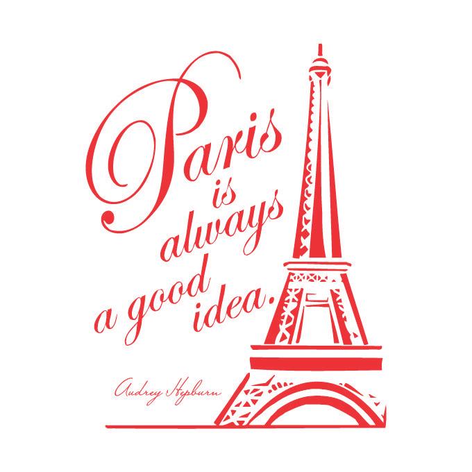 Paris Is Always A Good Idea Vinyl Quote Large Red Walmartcom