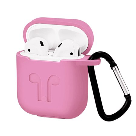 Waterproof Silicone Case for Airpods Protective Sleeve for Airpods Silicone Wireless Earphone Case Cover Pink