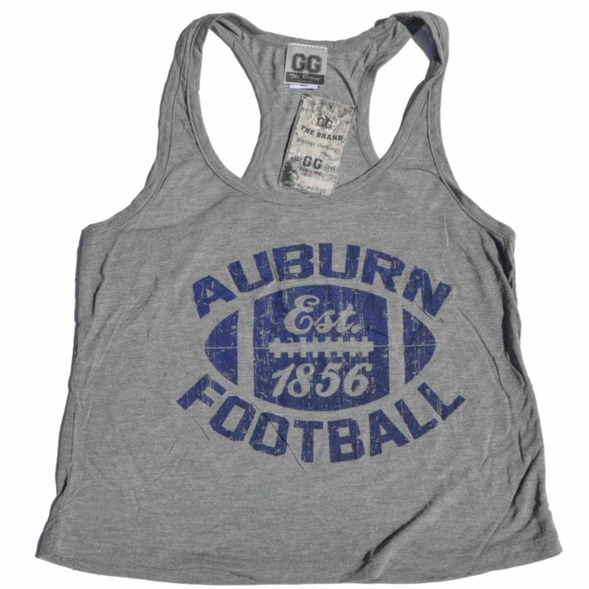 Auburn Tigers GG Women Gray Football Performance Loose Dance Tank Top by