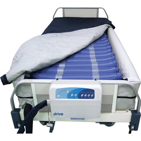 Drive Medical Med Aire Defined Perimeter Low Air Loss Mattress Replacement System, with Low Pressure Alarm, 8