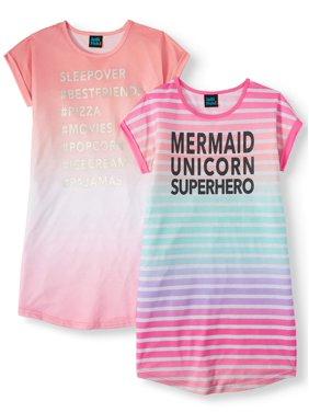 Jellifish Kids 2-Pack Sleep Pajama Nightgown(Little Girls & Big Girls)