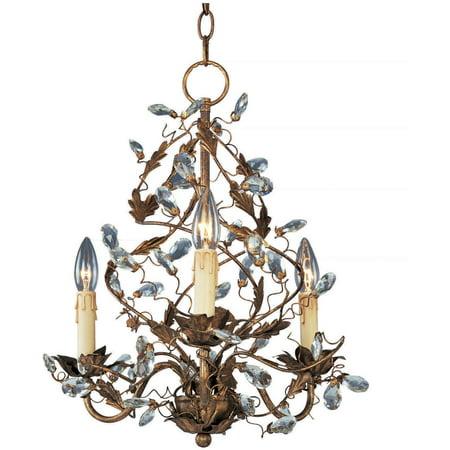 Maxim Lighting 2850EG Elegante Mini Chandelier, Etruscan Gold