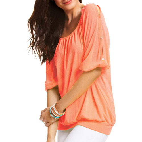 Faded Glory Women's Button Detail Top