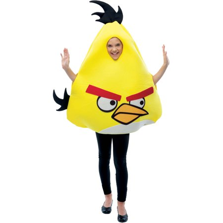 Angry Birds Yellow Child Halloween Costume, One size, Up to 12