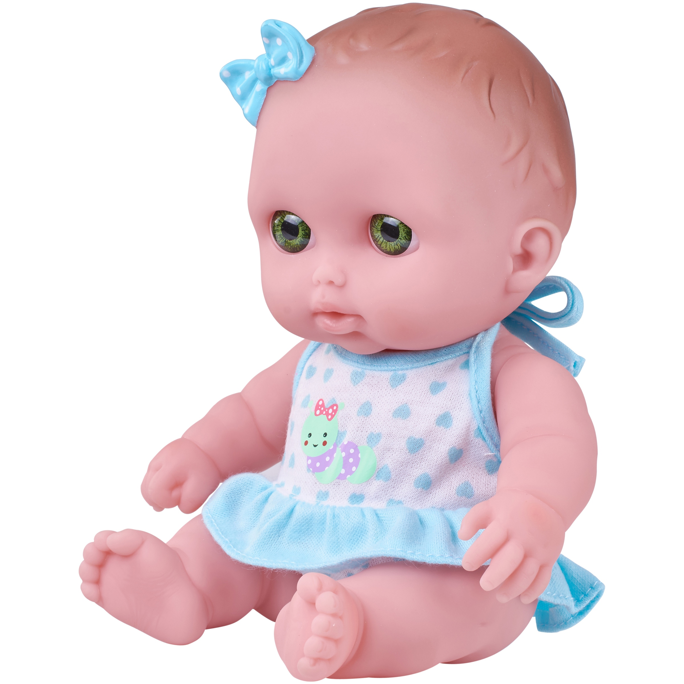 "My Sweet Love Lil Cutsies 8.5"" Baby Doll with Blue and White Outfit"