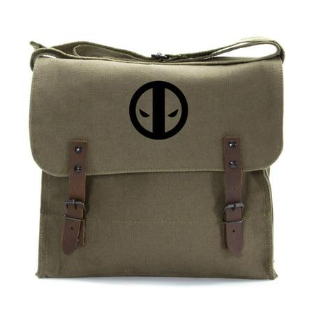 Deadpool Logo Army Heavyweight Canvas Medic Shoulder Bag