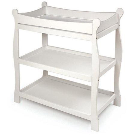 Badger Basket Sleigh Changing Table, White