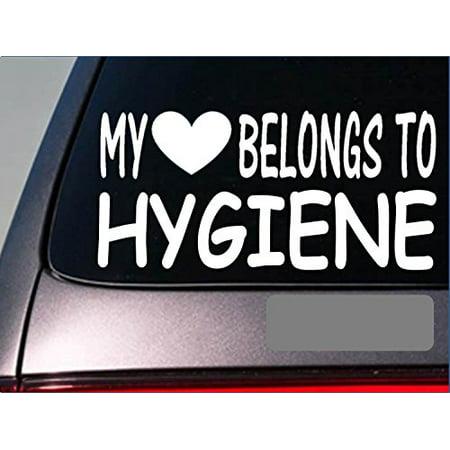 Dental Hygienist My heart belongs Sticker *G501* 8