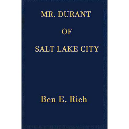 Costume Shops Salt Lake City (Mr. Durant of Salt Lake City -)
