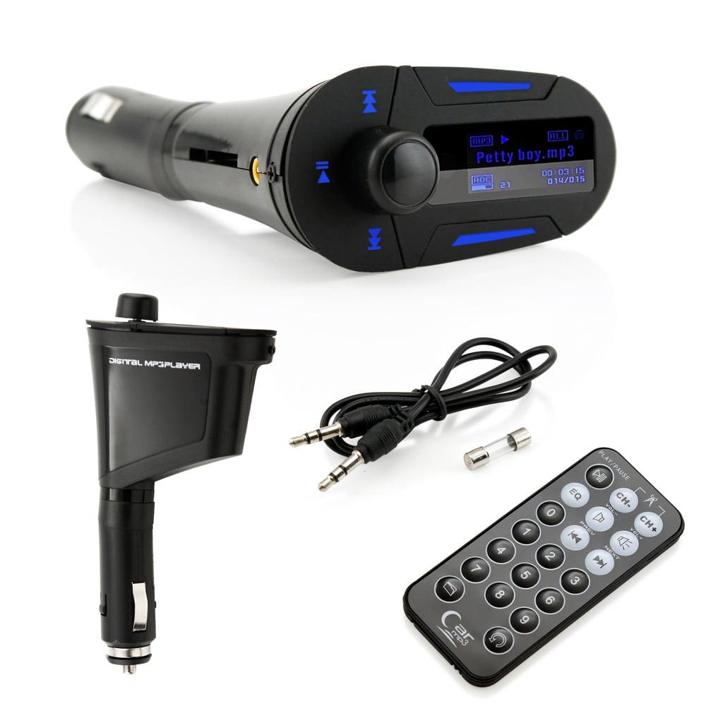 Car Kit MP3 Player Wireless FM Plug in Transmitter Modulator LCD USB SD MMC / Remote Control Set