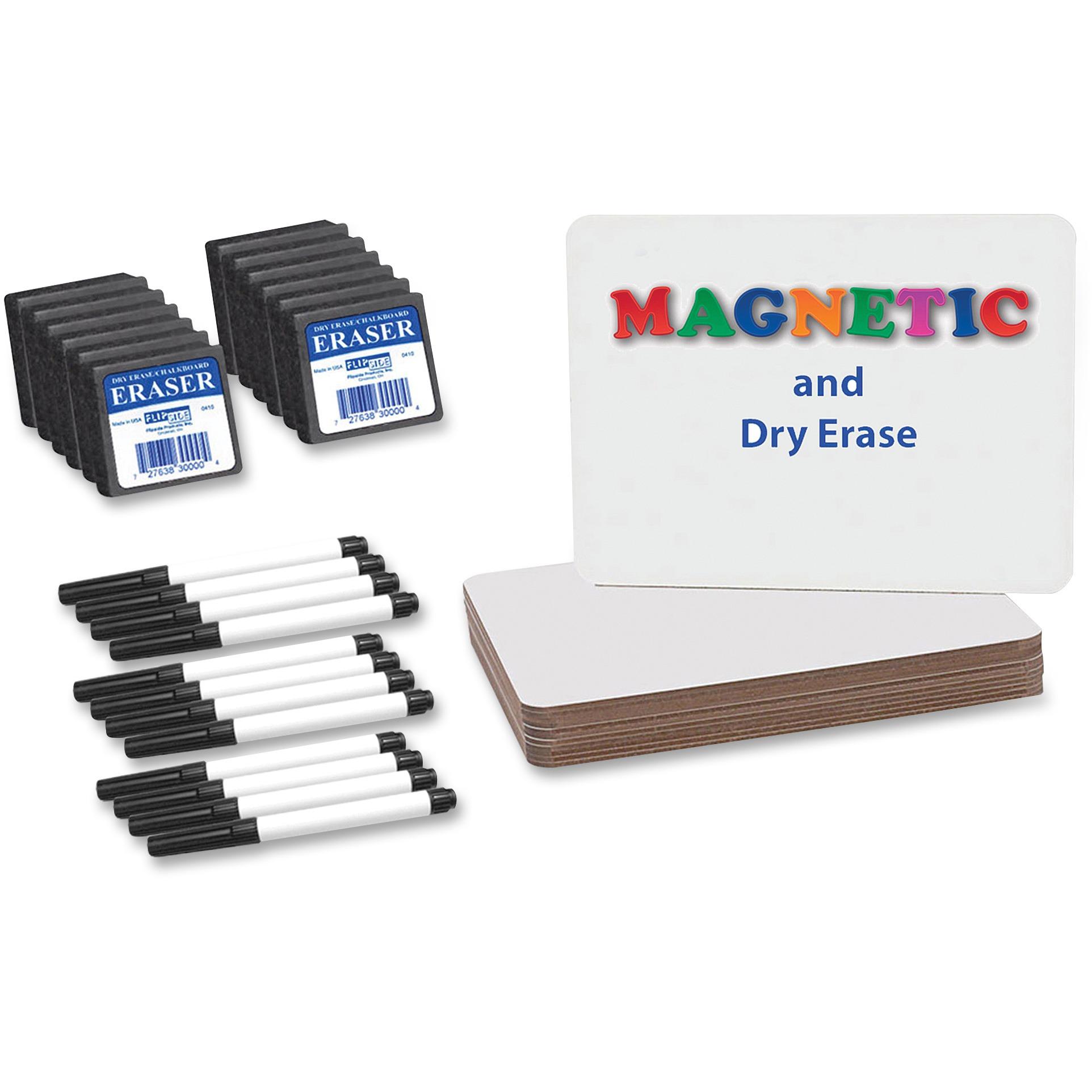 Flipside, FLP21004, Magnetic Dry Erase Board Set Class Pack, 12 / Pack