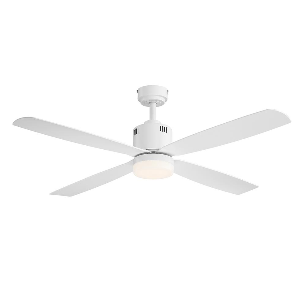 Home Decorators Collection Kitteridge 52 In Led Indoor White Ceiling Fan With Light Kit New Open Box Walmart Com Walmart Com