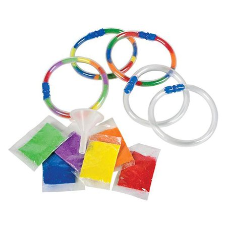Sand Art Bracelets - 12 Pieces Empty Transparent Circlets - School Art Project, Party Giveaways, Playtime or Classroom Activities, Arts & Crafts, Gift Ideas, Toddlers