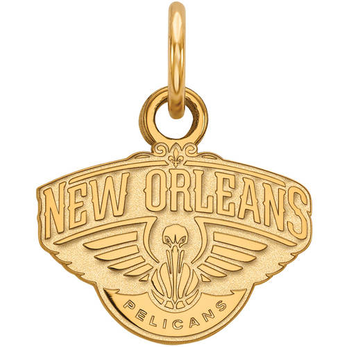 LogoArt NBA New Orleans Pelicans 14kt Gold-Plated Sterling Silver Extra Small Pendant