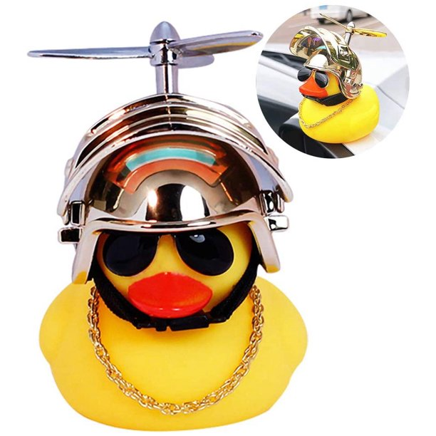 Rubber Duck Toy Car Ornaments Yellow Duck Car Dashboard Decorations With Propeller Helmet For Adults Kids Women Men Walmart Com Walmart Com