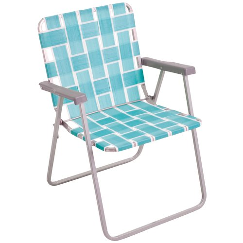 Mainstays Classic Folding Web Chair, Teal
