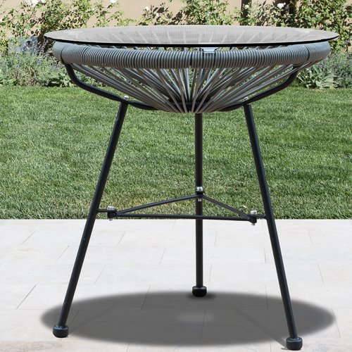 Wrought Studio Renz Glass Side Table
