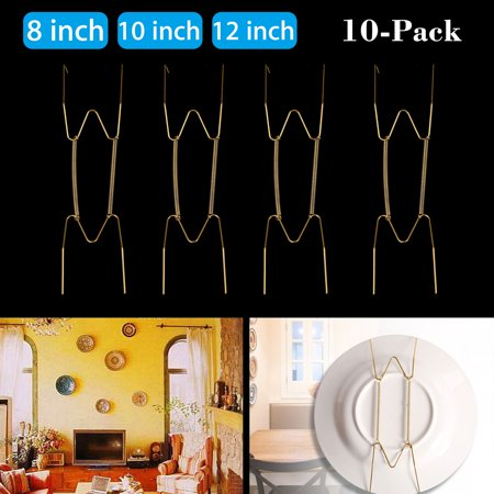 Decoration Hanger (Plate Hanger Plate Dish Display Plate Hangers, Non-scratch hooks,For The Wall Decoration- (10 Pack)  8
