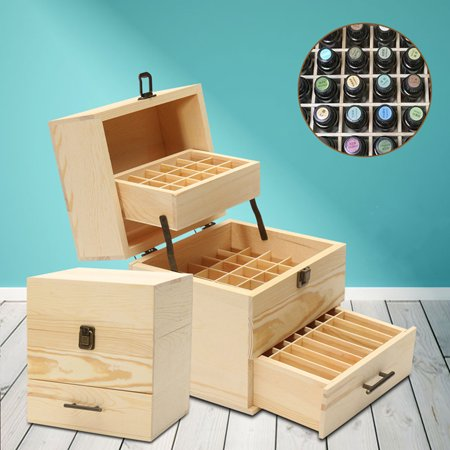Little Wooden Boxes (32/ 59 Slots Essential Oil Box Organizer Wooden Storage Case Holds Container For 5-15ml Bottles Valentine Christmas)