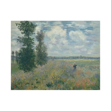 Poppy Fields near Argenteuil Print Wall Art By Claude Monet Poppy Field Argenteuil