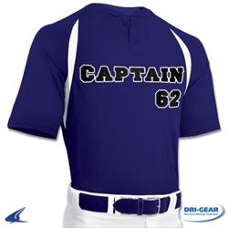 Champro Two Button Placket Youth Baseball Jersey