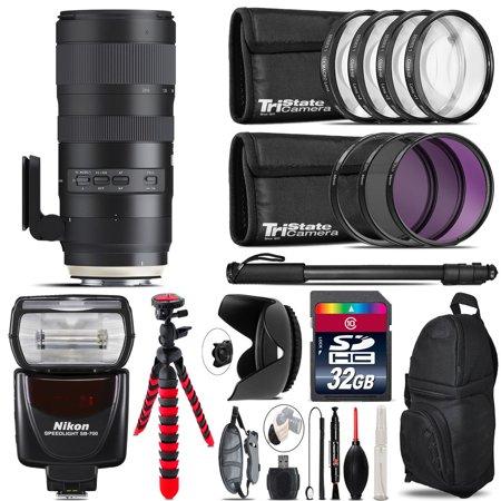Tamron 70-200mm G2 for Nikon + SB-700 AF Speedlight & More - 32GB