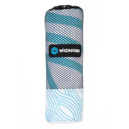 Wildhorn Akumal Fast Drying Absorbent Microfiber Striped Beach Towel, Zen Breeze