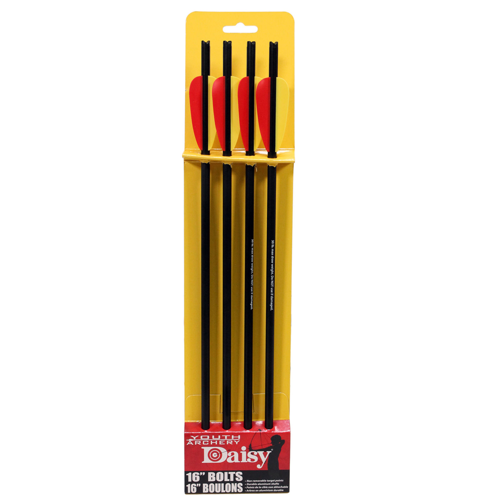 "Click here to buy Daisy Youth Archery 0002 16"" Crossbow Bolts 4 pack by Daisy."