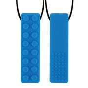 Kuriozud Sensory Chew Necklace For Kids Chewing Silicone Chewy Brick Toy