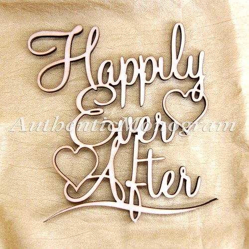 aMonogram Art Unlimited Happily Ever After Painted Wooden Monogram Wall Decor