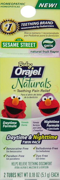 Baby Orajel Naturals Daytime Nighttime Teething Gel Twin Pack 2