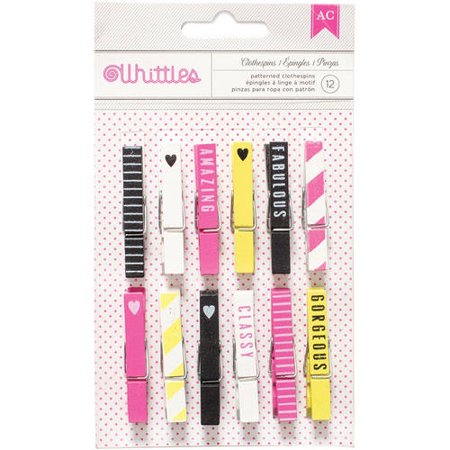 Designer Desktop Essentials Clothespins, 12pk