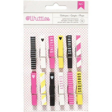 Limited Offer Designer Desktop Essentials Clothespins, 12pk Before Too Late