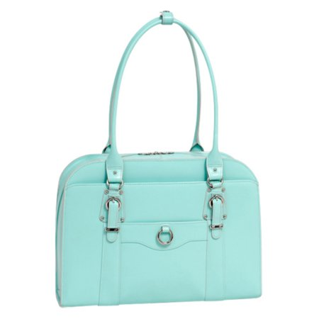 Ladies Briefcase Green (Hillside Leather Ladies Briefcase)