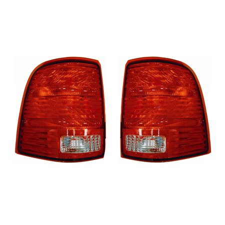 NEW PAIR OF TAIL LIGHTS FIT FORD EXPLORER 2002-2005 1L2Z-13404-AA 1L2Z 13404 AA (Ford Explorer Tail Light Replacement)