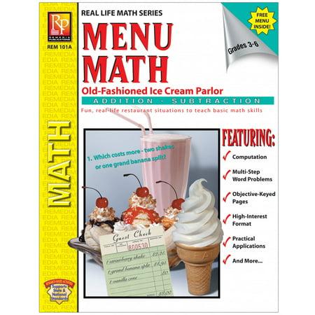 MENU MATH ICE CREAM PARLOR BOOK-1 REAM PARLOR BOOK 1-ADD &